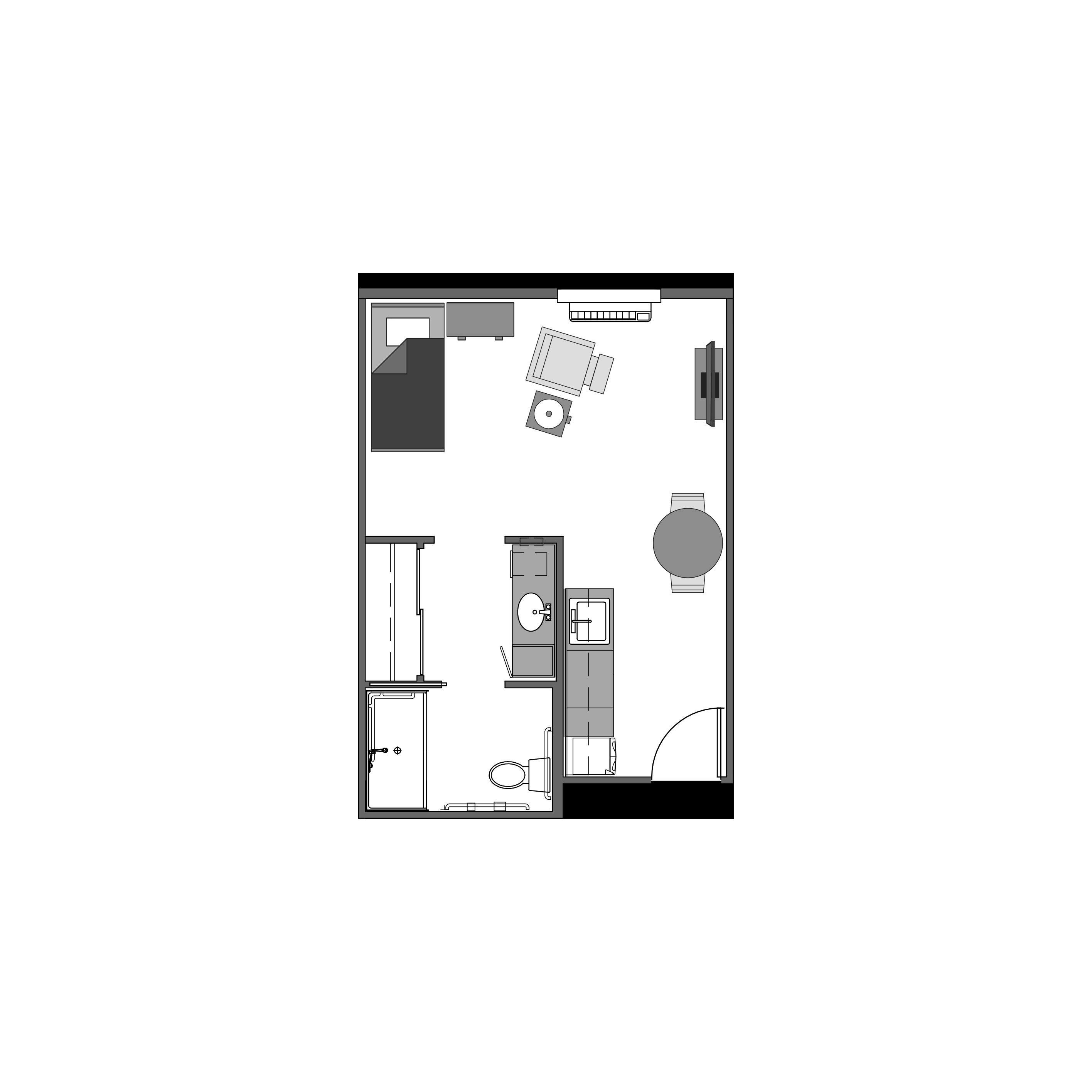 Studio floor plan, 368 square feet