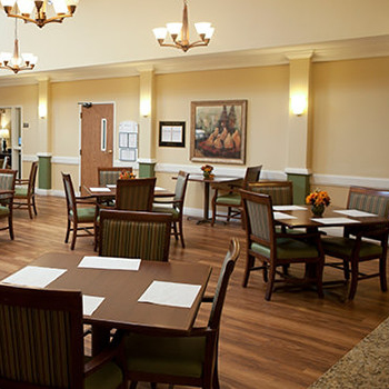 The Village at Primacy Place interior dining area