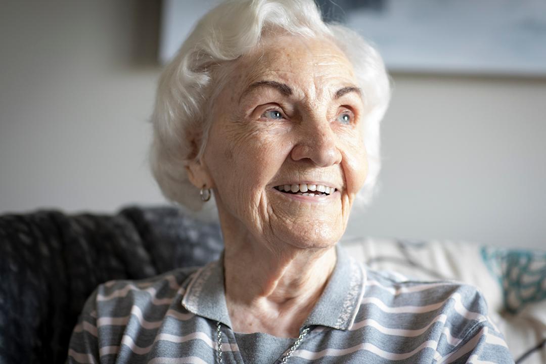 resident smiling