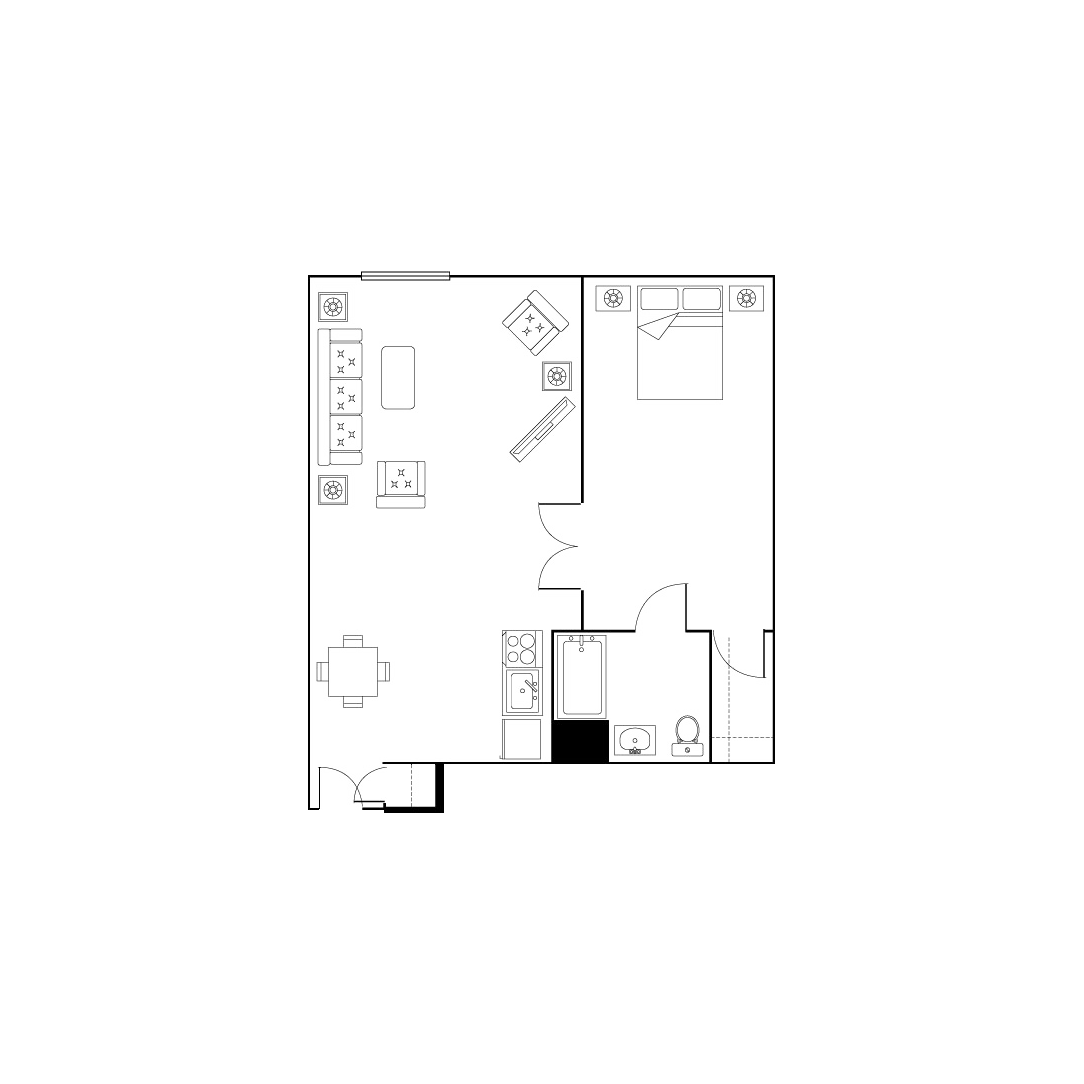 Large one bed one bath
