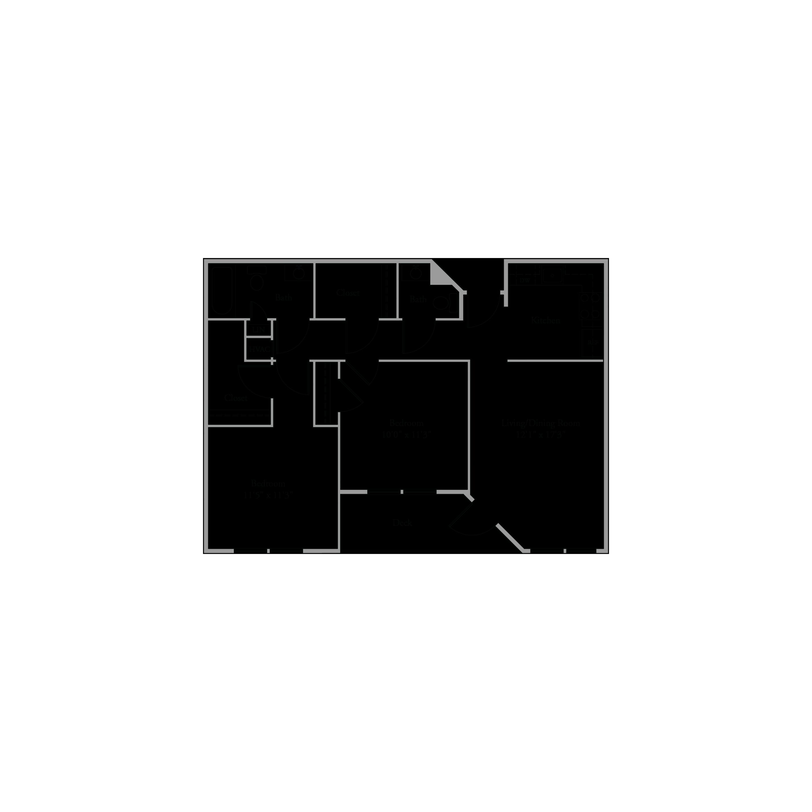 895 Sq Ft Floor Plan