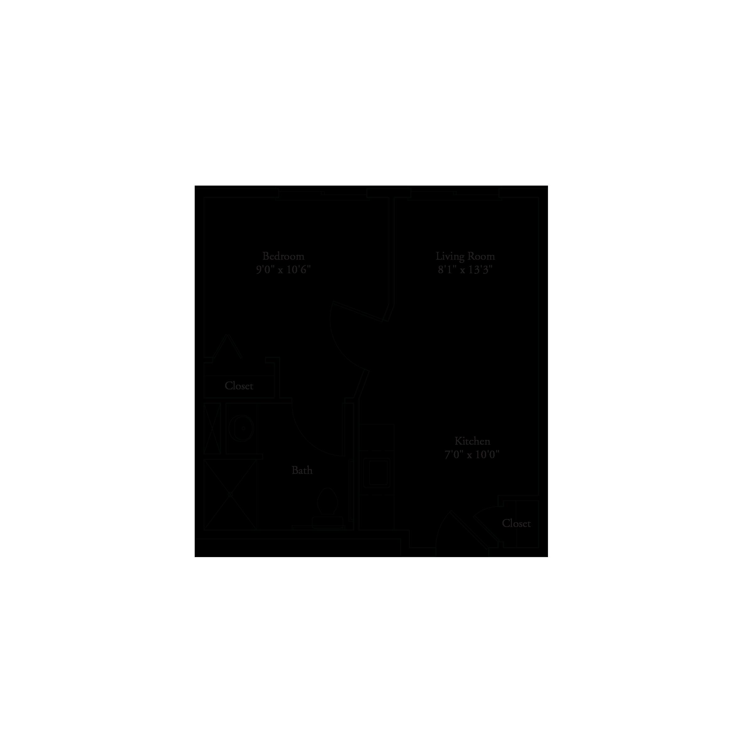 391-400 Sq Ft Floor Plan