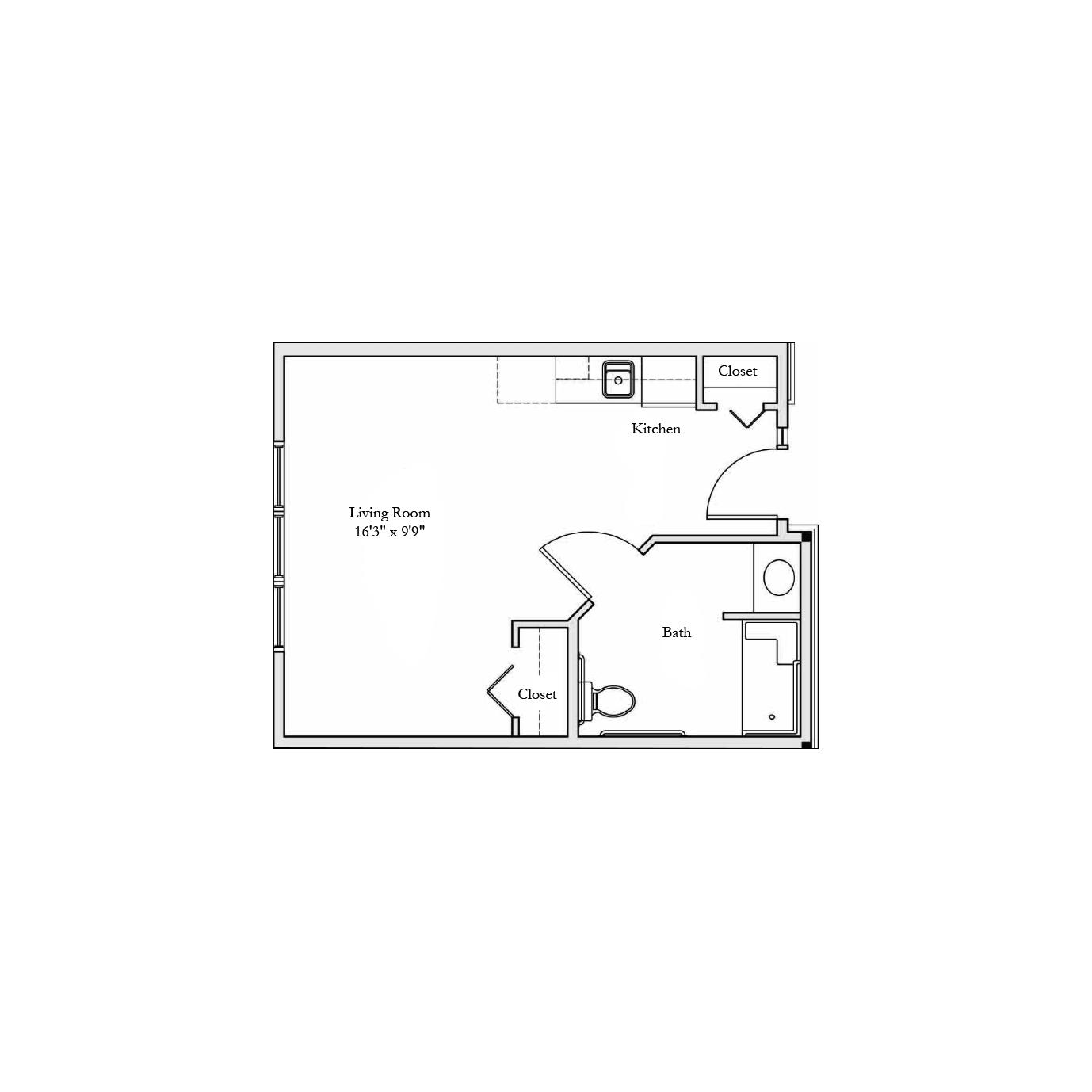 360 Sq Ft Floor Plan