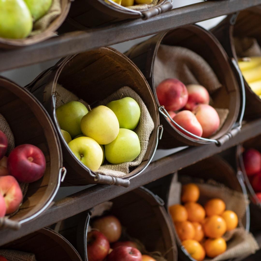Fruit in barrel