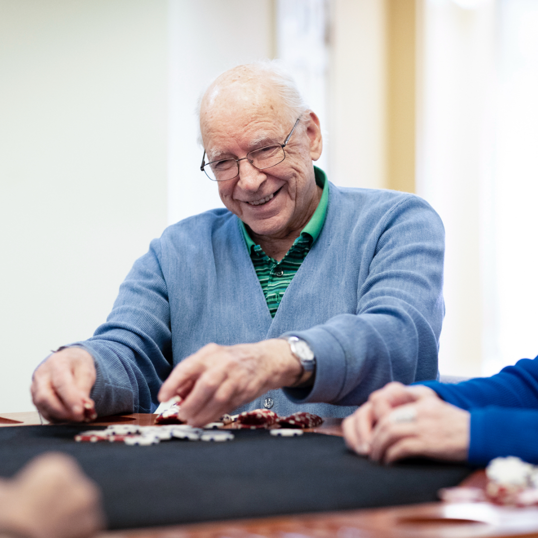 man playing poker