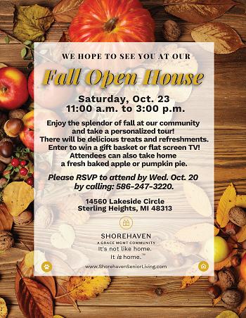 Fall Open House Flyer